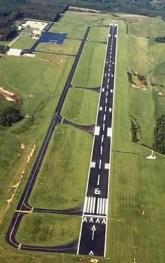 airport runway aerial