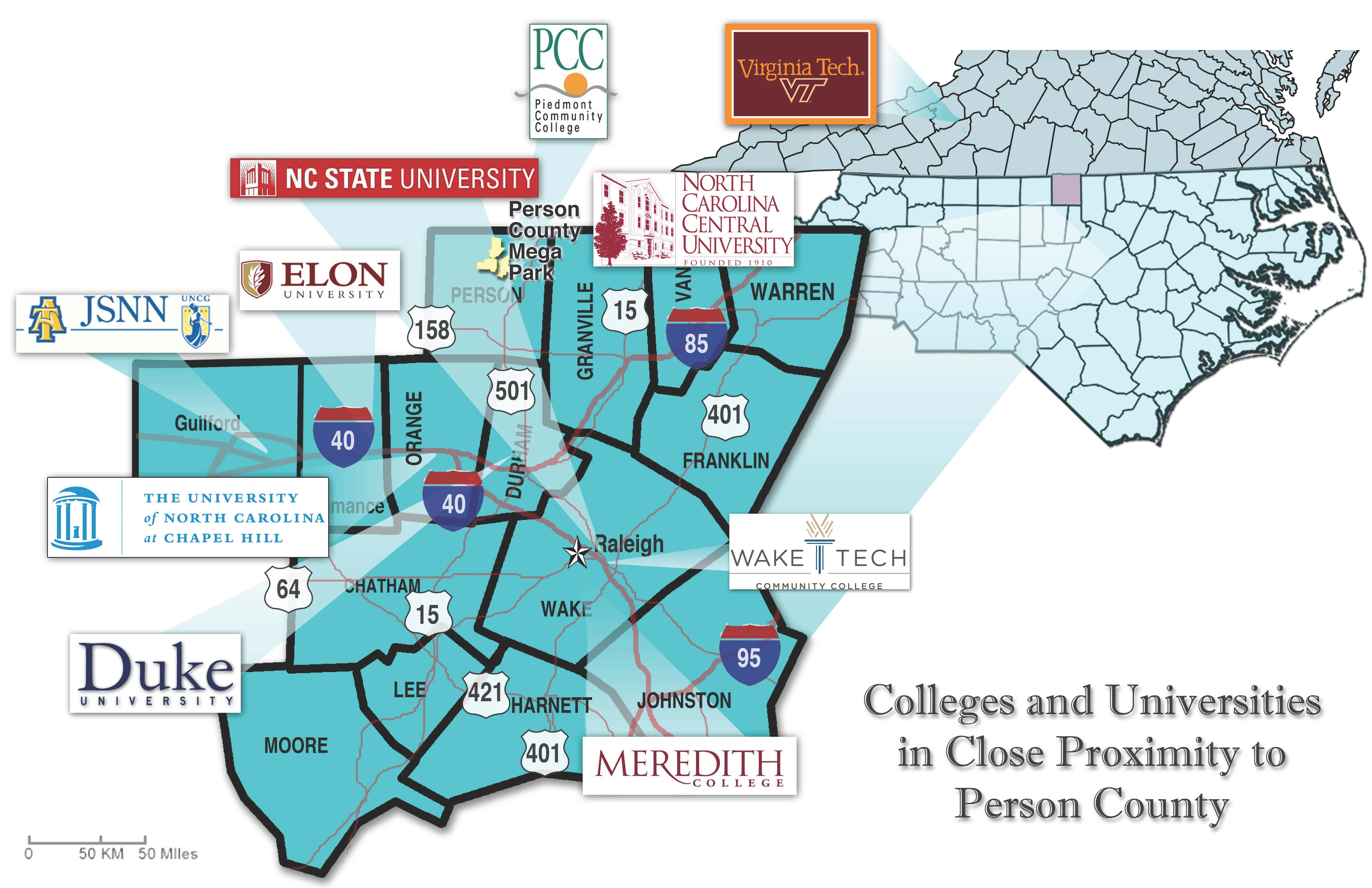 colleges proximity map