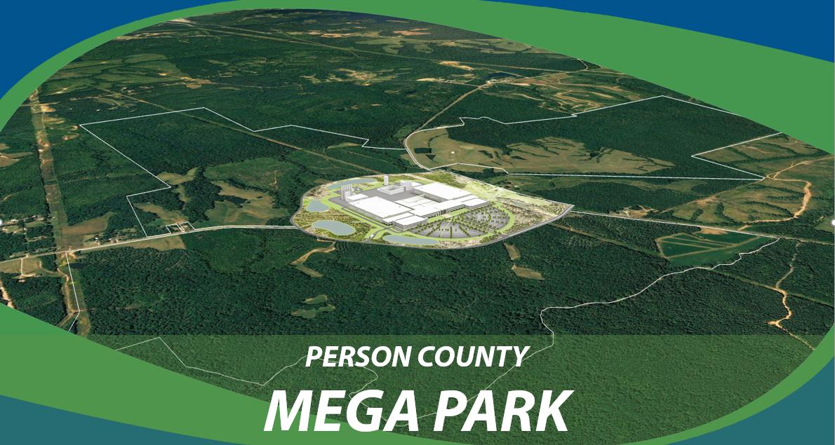 cover slide for Person County Mega Park Site Attributes pdf