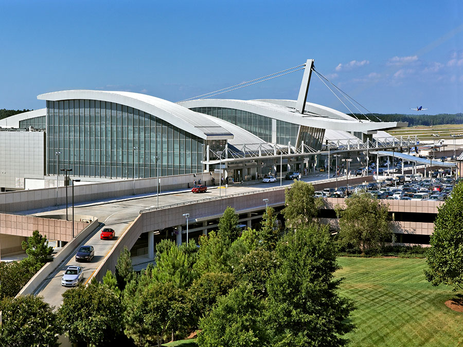 airport terminal at Raleigh Durham International